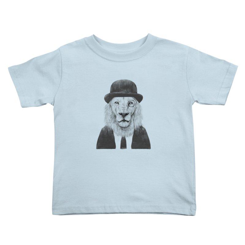 Sir lion Kids Toddler T-Shirt by Balazs Solti
