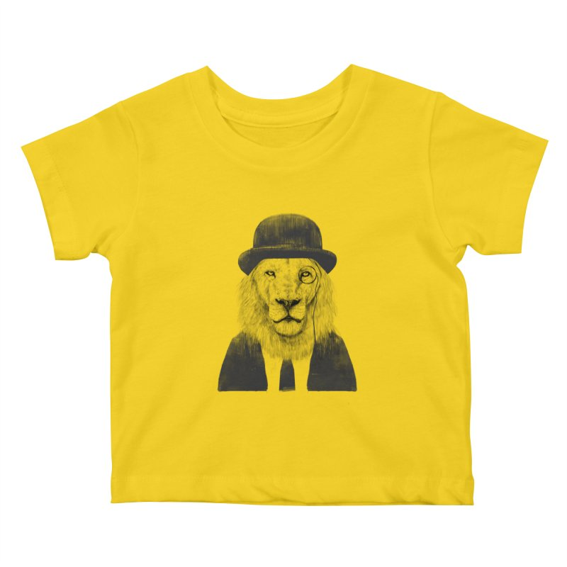 Sir lion Kids Baby T-Shirt by Balazs Solti