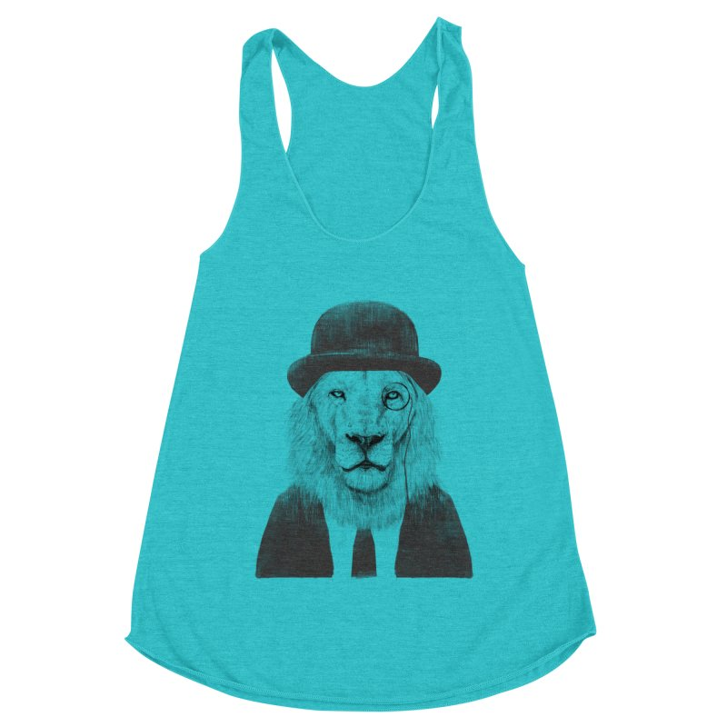 Sir lion Women's Racerback Triblend Tank by Balazs Solti