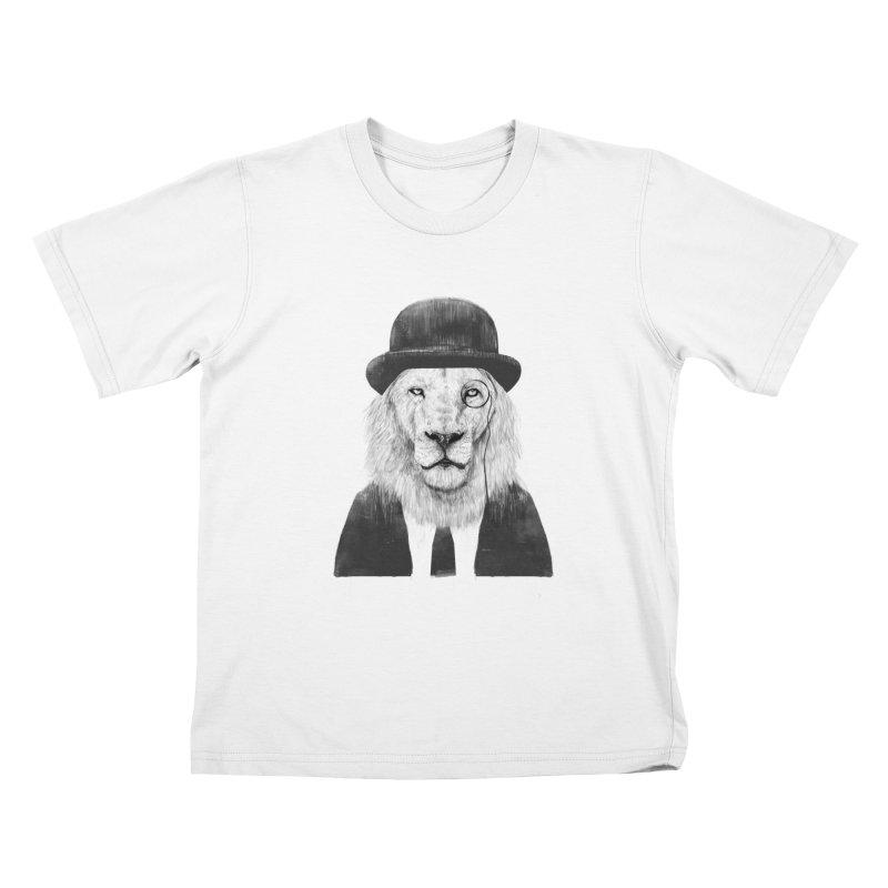 Sir lion Kids T-Shirt by Balazs Solti