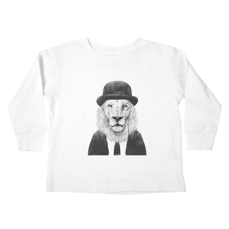 Sir lion Kids Toddler Longsleeve T-Shirt by Balazs Solti