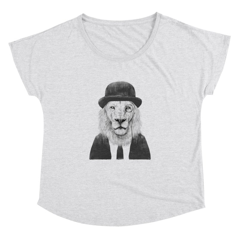 Sir lion Women's Scoop Neck by Balazs Solti