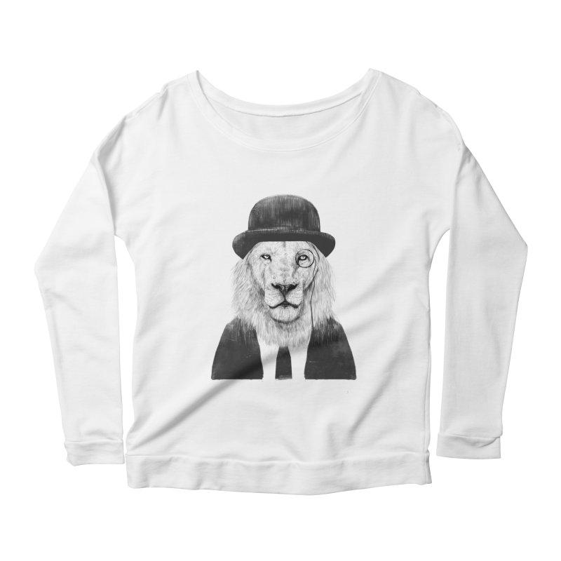 Sir lion Women's Scoop Neck Longsleeve T-Shirt by Balazs Solti
