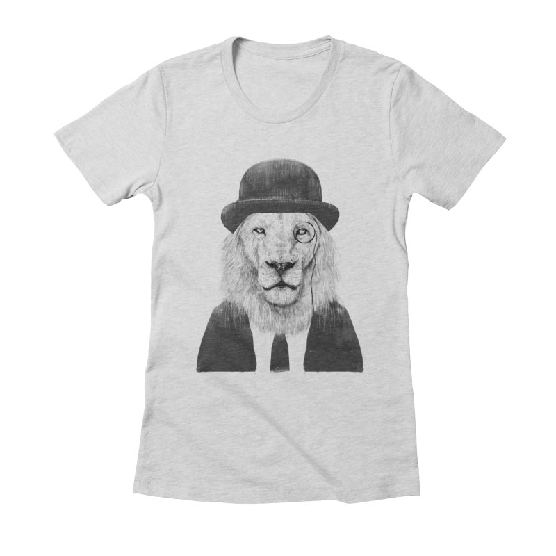 Sir lion Women's Fitted T-Shirt by Balazs Solti