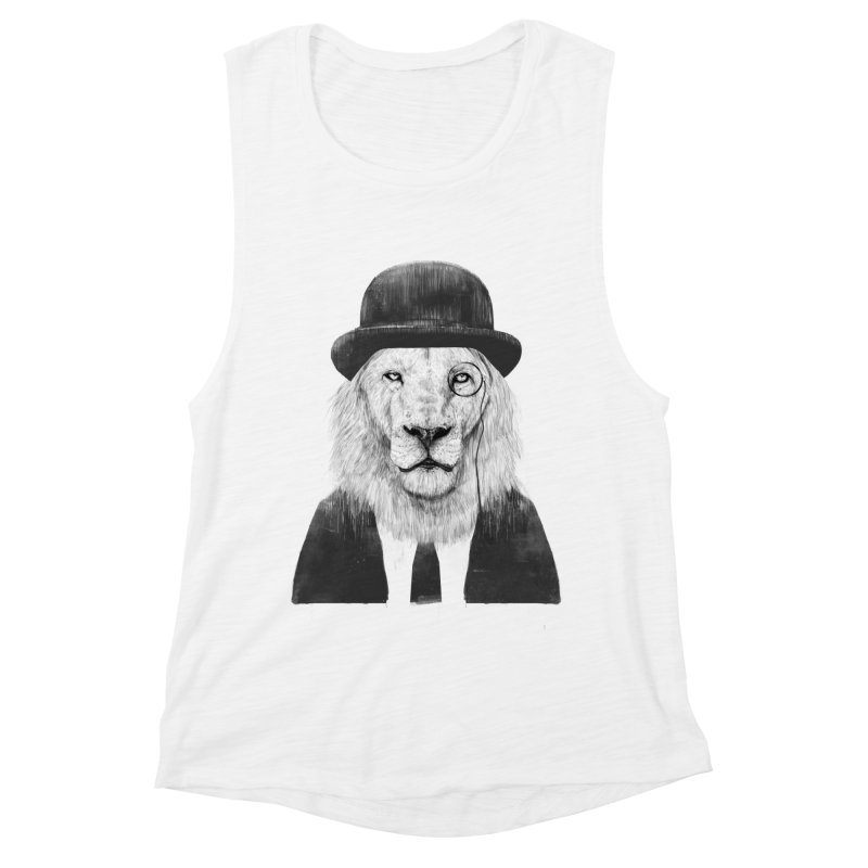 Sir lion Women's Muscle Tank by Balazs Solti