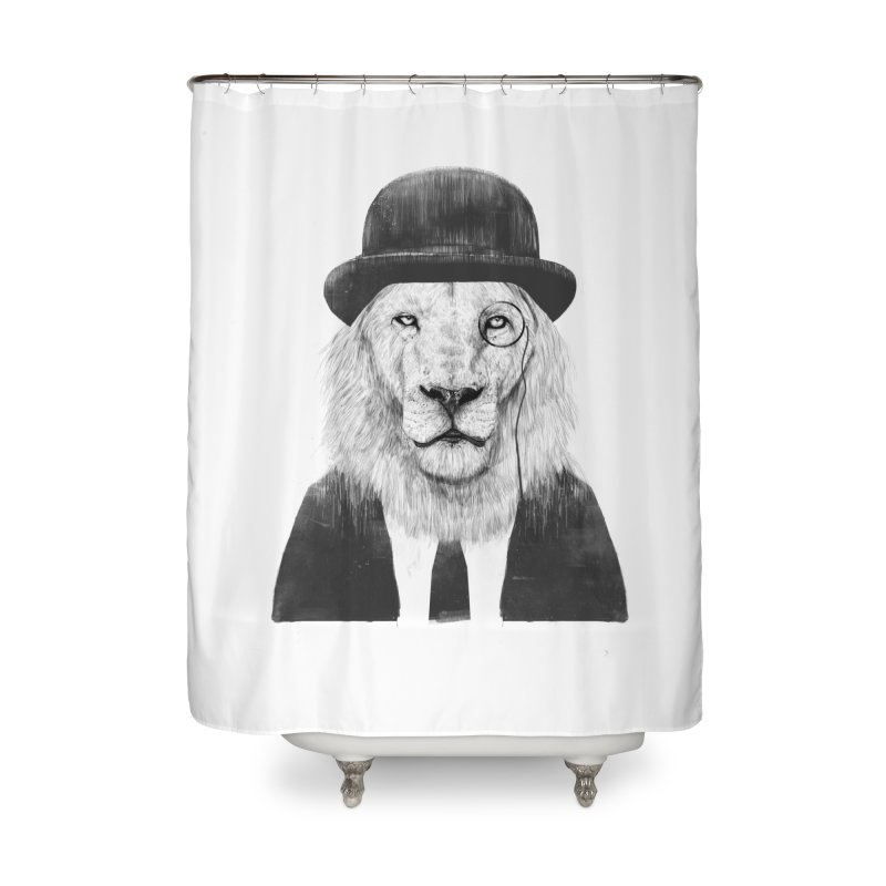 Sir lion Home Shower Curtain by Balazs Solti