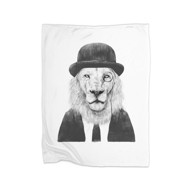 Sir lion Home Fleece Blanket Blanket by Balazs Solti