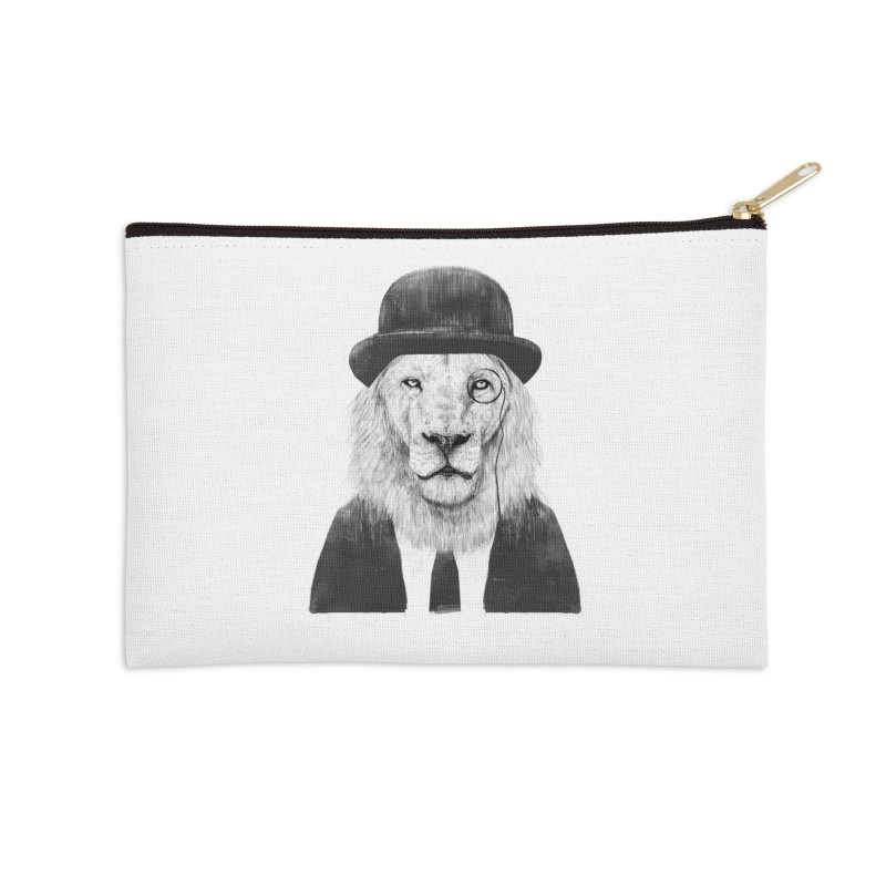 Sir lion Accessories Zip Pouch by Balazs Solti