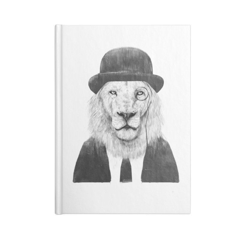 Sir lion Accessories Lined Journal Notebook by Balazs Solti
