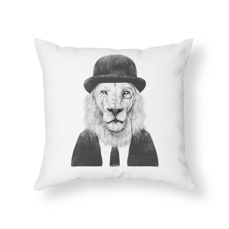 Sir lion Home Throw Pillow by Balazs Solti