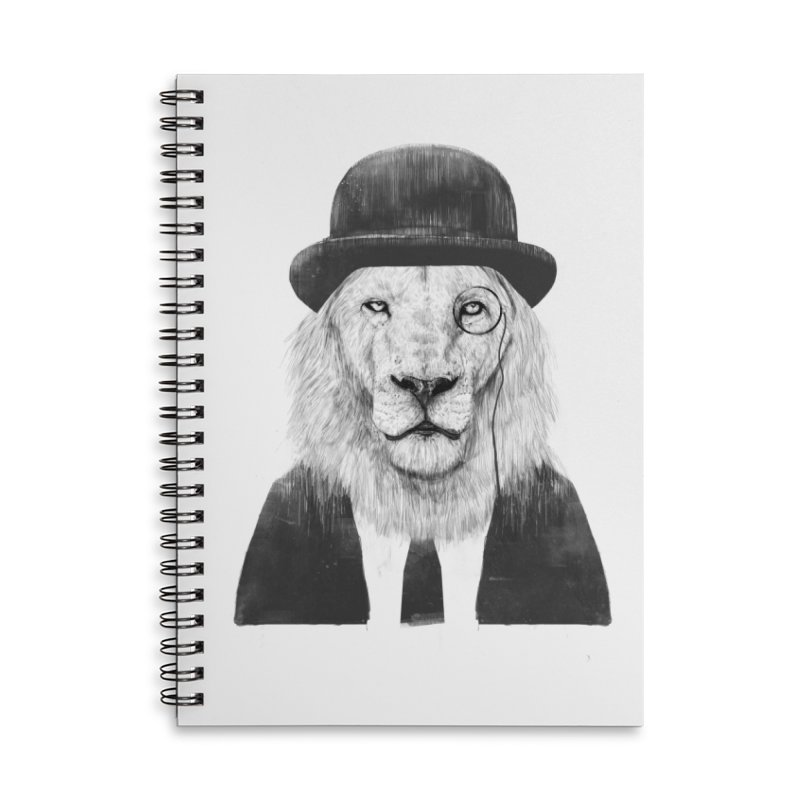 Sir lion Accessories Lined Spiral Notebook by Balazs Solti