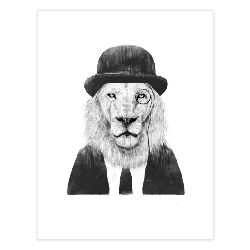Sir lion Home Fine Art Print by Balazs Solti