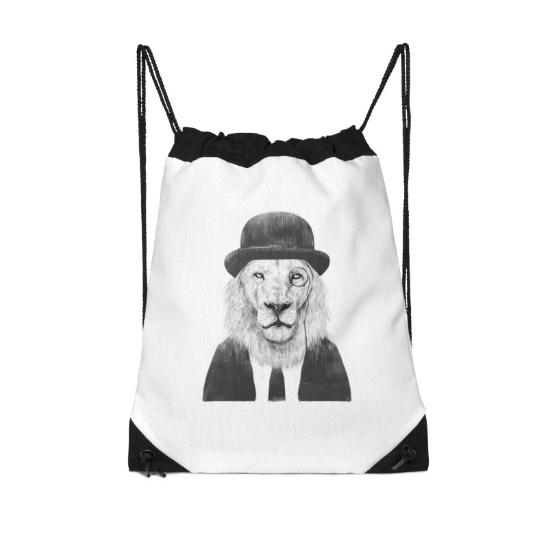 Sir lion Accessories Drawstring Bag Bag by Balazs Solti