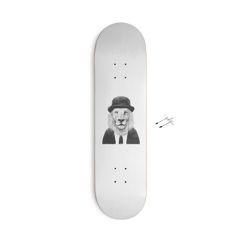 Sir lion Accessories With Hanging Hardware Skateboard by Balazs Solti