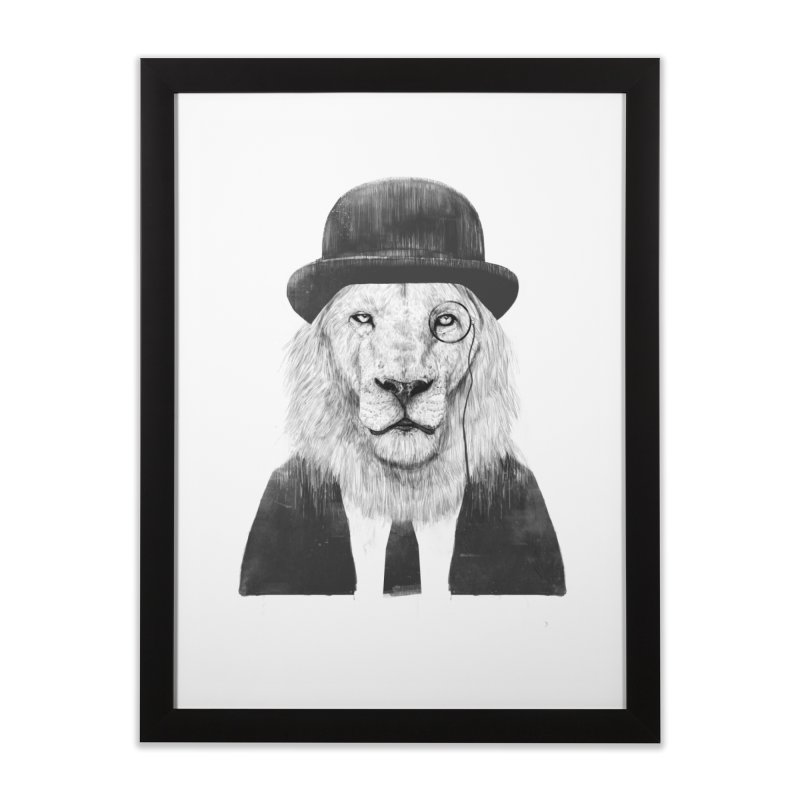 Sir lion Home Framed Fine Art Print by Balazs Solti