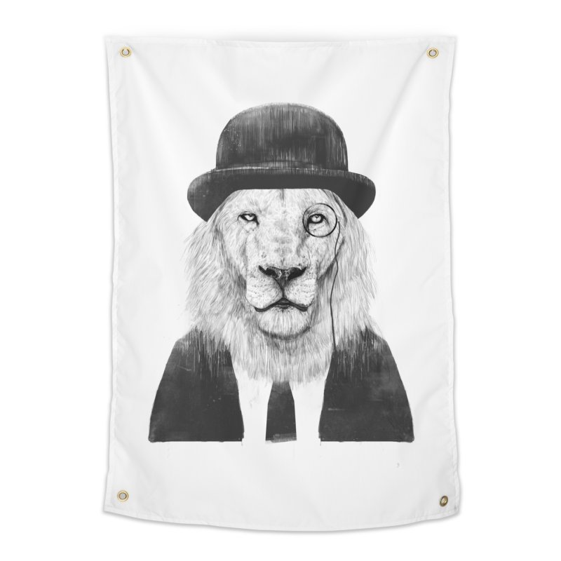 Sir lion Home Tapestry by Balazs Solti