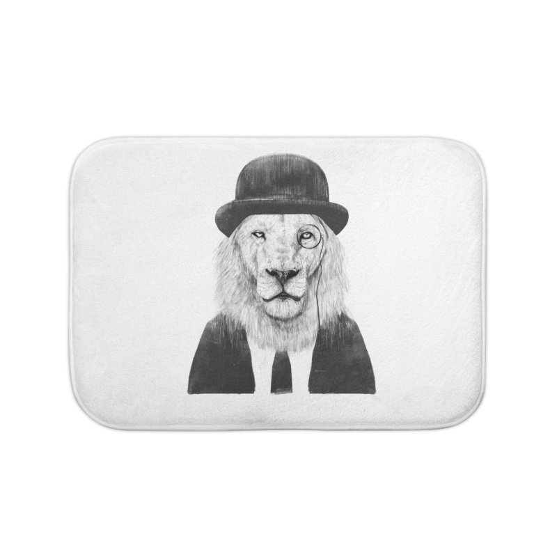 Sir lion Home Bath Mat by Balazs Solti