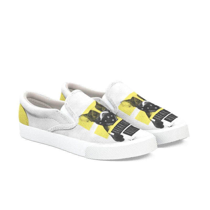 Rebel dog Men's Slip-On Shoes by Balazs Solti