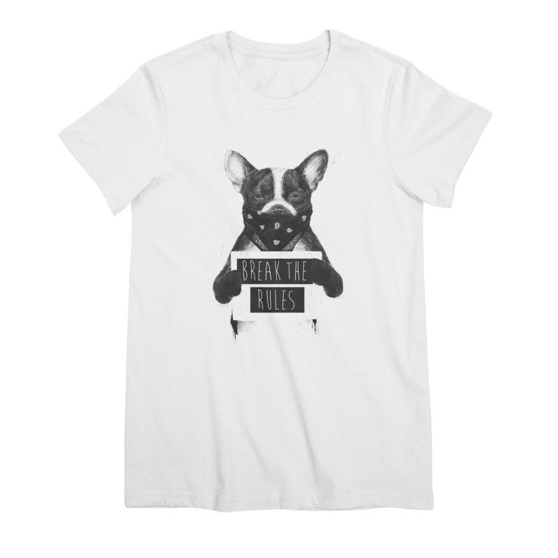 Rebel dog Women's Premium T-Shirt by Balazs Solti