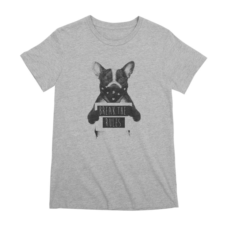 Rebel dog Women's Premium T-Shirt by Balazs Solti
