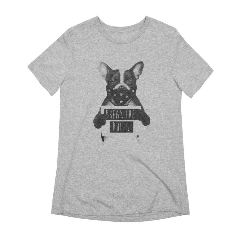 Rebel dog Women's Extra Soft T-Shirt by Balazs Solti