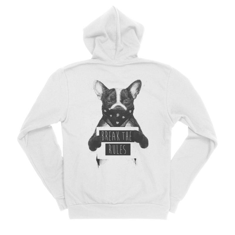 Rebel dog Men's Sponge Fleece Zip-Up Hoody by Balazs Solti
