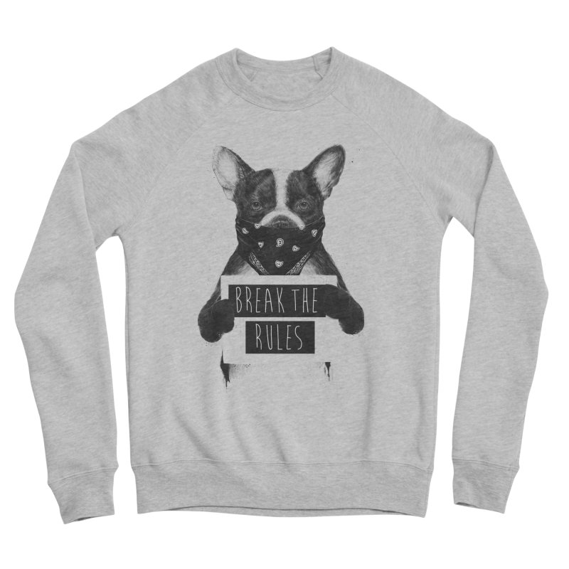 Rebel dog Men's Sponge Fleece Sweatshirt by Balazs Solti