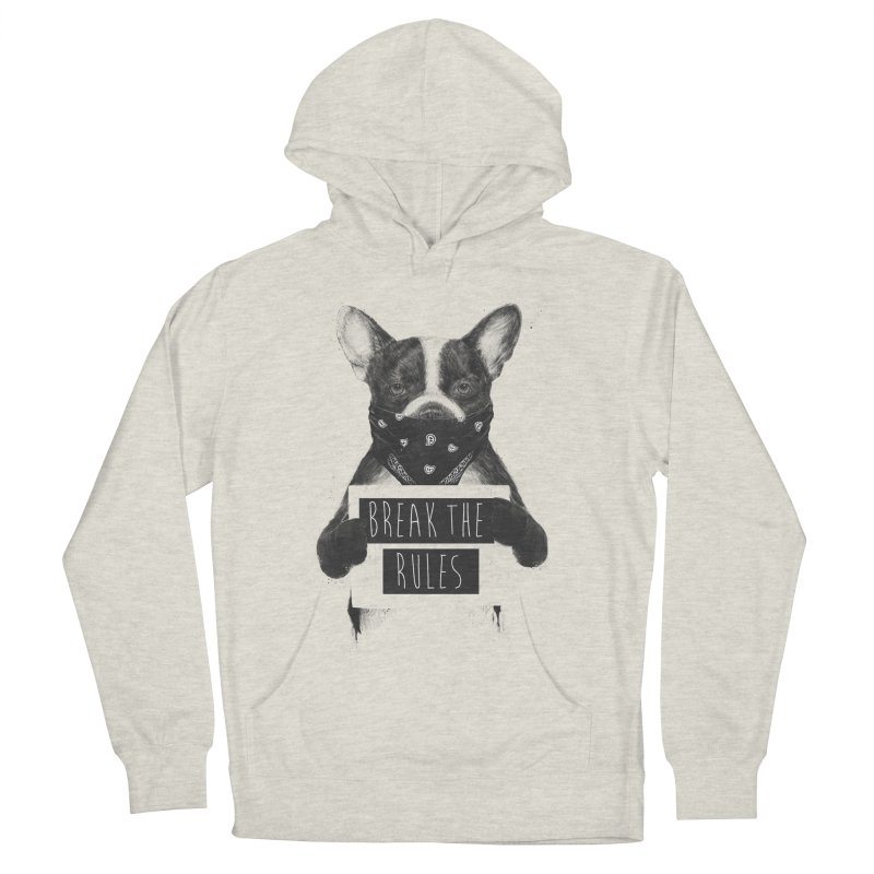 Rebel dog Men's French Terry Pullover Hoody by Balazs Solti