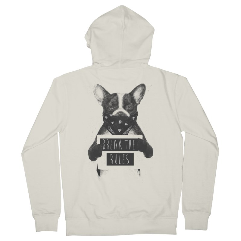 Rebel dog Women's French Terry Zip-Up Hoody by Balazs Solti