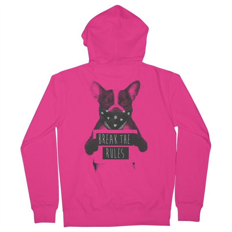 Rebel dog Men's French Terry Zip-Up Hoody by Balazs Solti