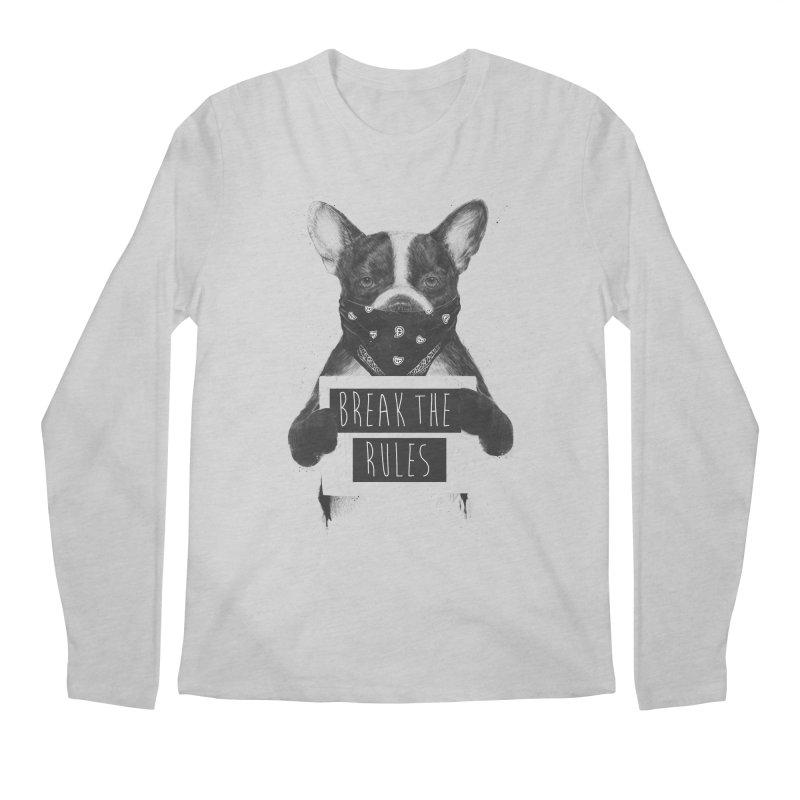 Rebel dog Men's Regular Longsleeve T-Shirt by Balazs Solti