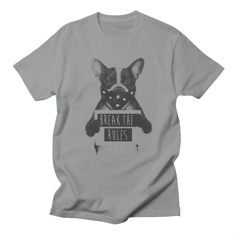 Rebel dog Men's Regular T-Shirt by Balazs Solti