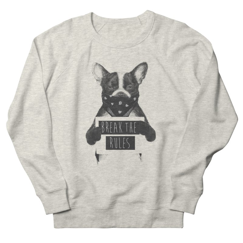 Rebel dog Women's French Terry Sweatshirt by Balazs Solti