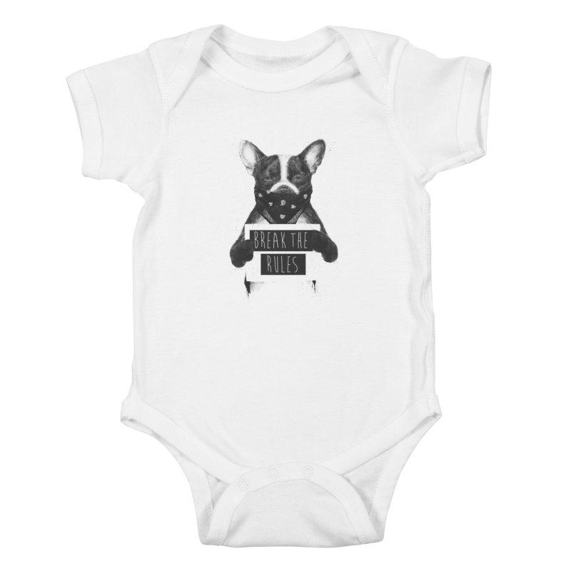 Rebel dog Kids Baby Bodysuit by Balazs Solti