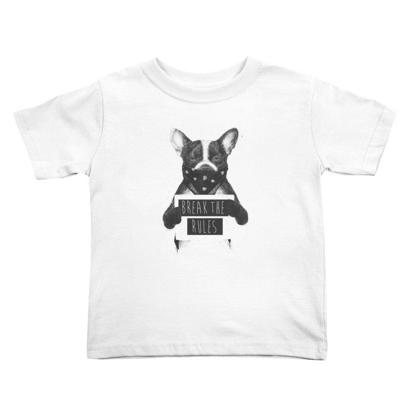 Rebel dog Kids Toddler T-Shirt by Balazs Solti