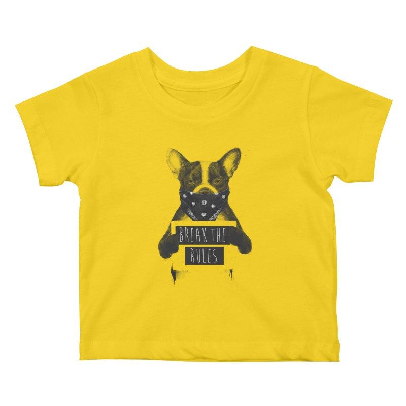 Rebel dog Kids Baby T-Shirt by Balazs Solti