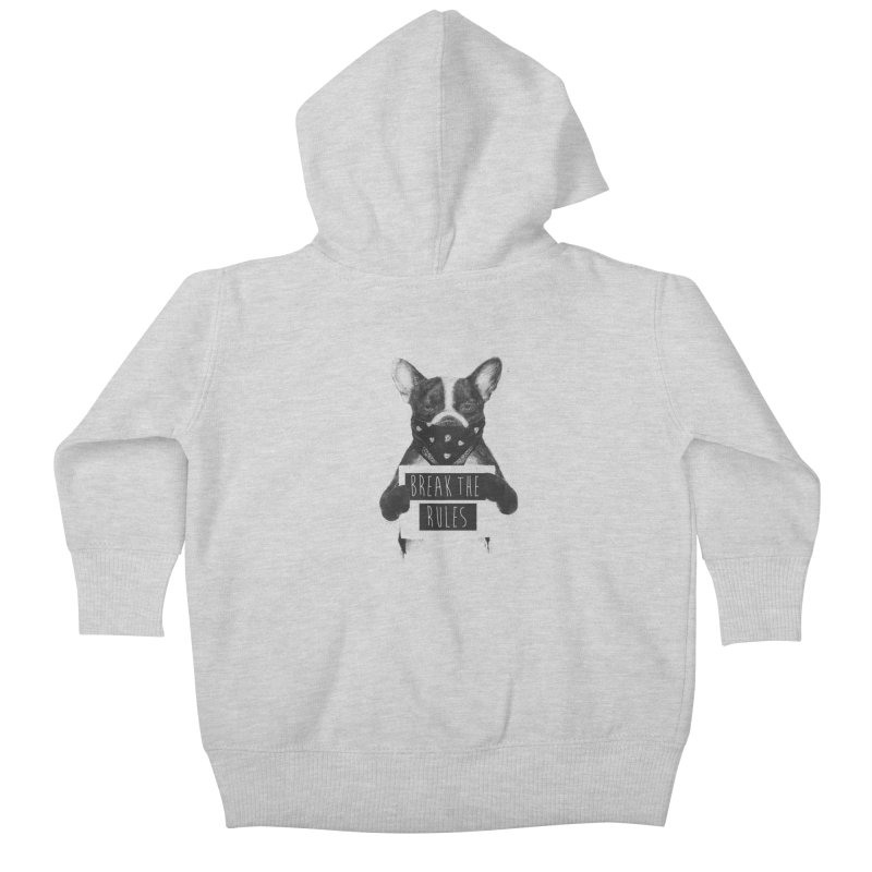 Rebel dog Kids Baby Zip-Up Hoody by Balazs Solti