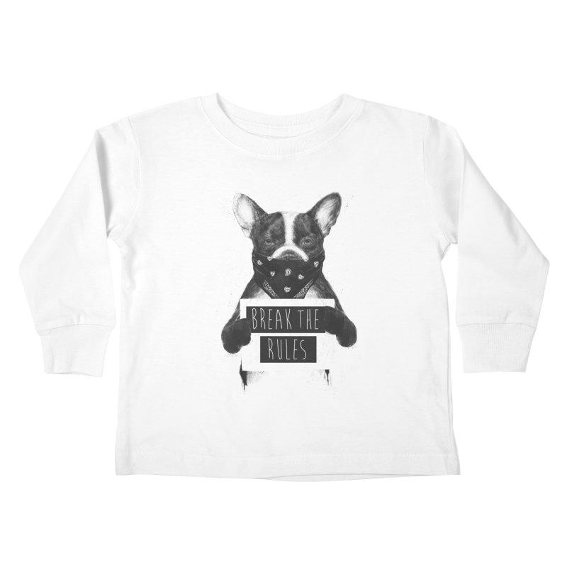 Rebel dog Kids Toddler Longsleeve T-Shirt by Balazs Solti
