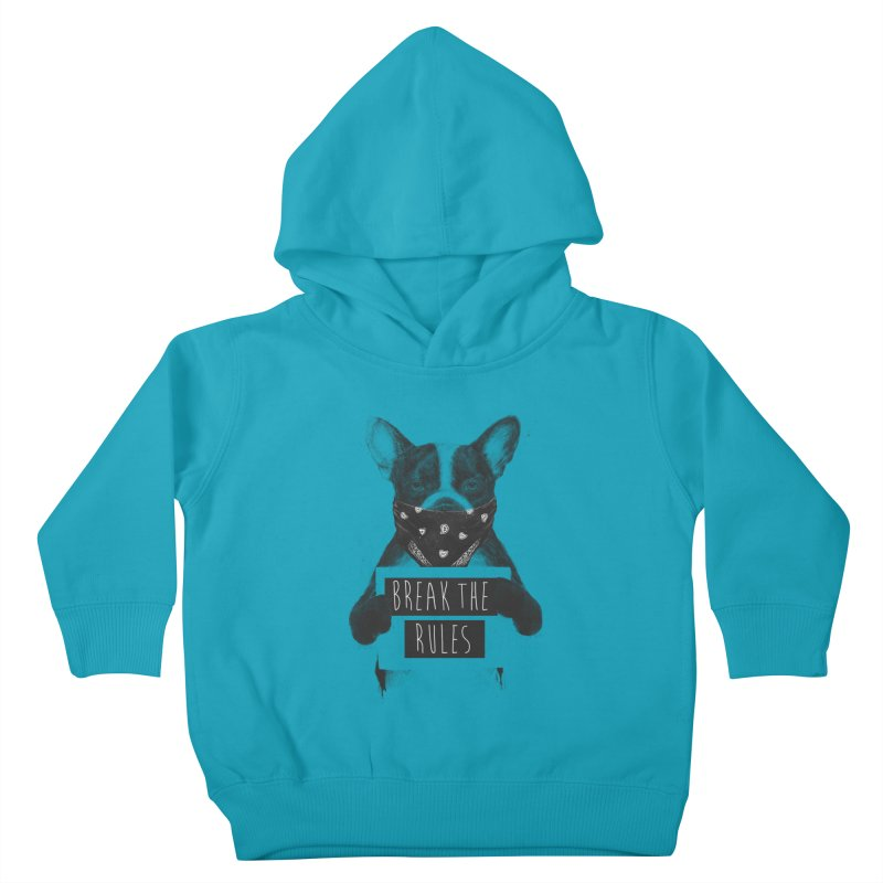 Rebel dog Kids Toddler Pullover Hoody by Balazs Solti