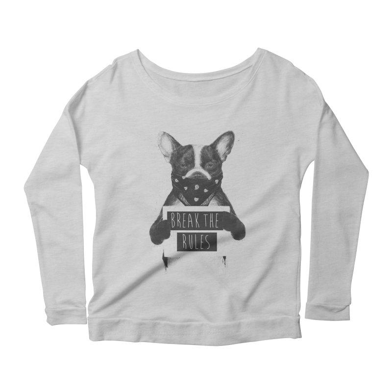 Rebel dog Women's Scoop Neck Longsleeve T-Shirt by Balazs Solti