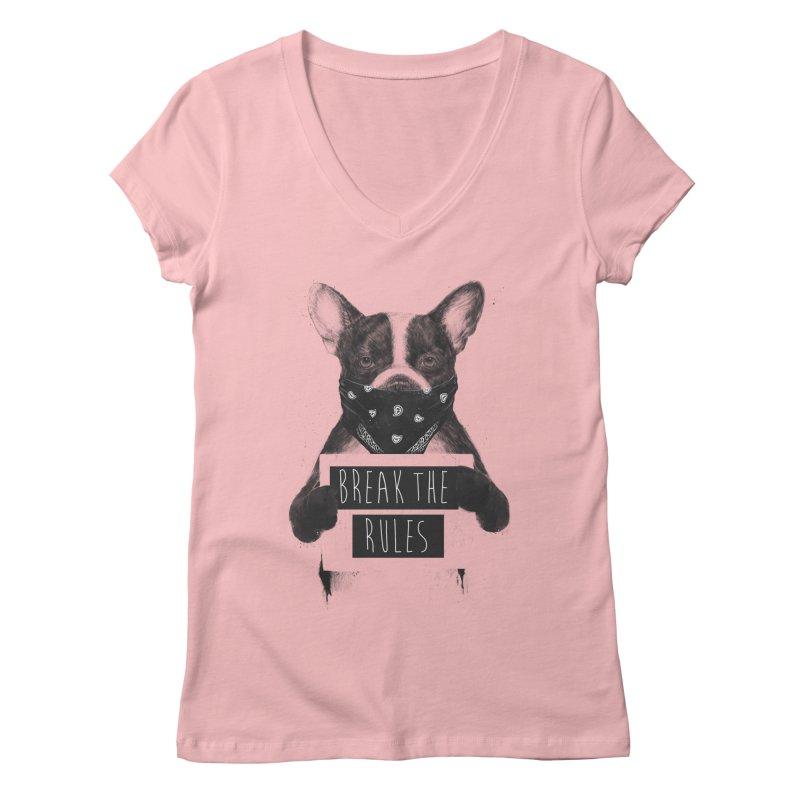 Rebel dog Women's Regular V-Neck by Balazs Solti