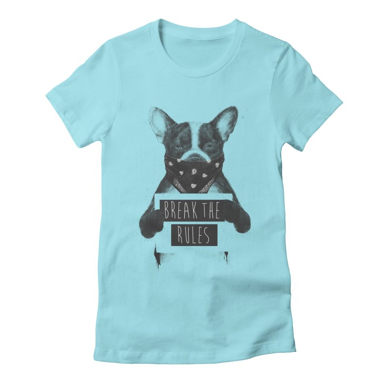 Rebel dog Women's Fitted T-Shirt by Balazs Solti