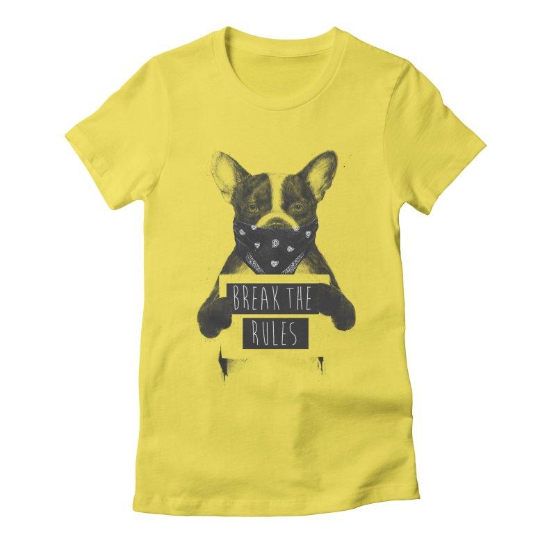 Rebel dog Women's T-Shirt by Balazs Solti