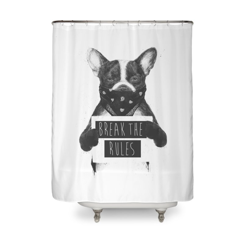 Rebel dog Home Shower Curtain by Balazs Solti