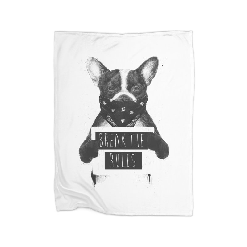 Rebel dog Home Blanket by Balazs Solti