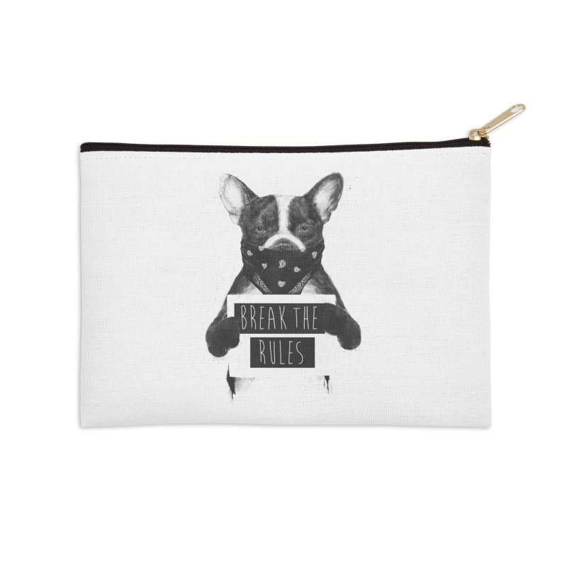 Rebel dog Accessories Zip Pouch by Balazs Solti
