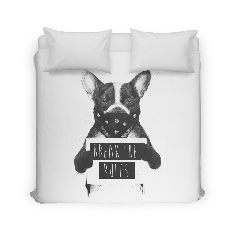 Rebel dog Home Duvet by Balazs Solti