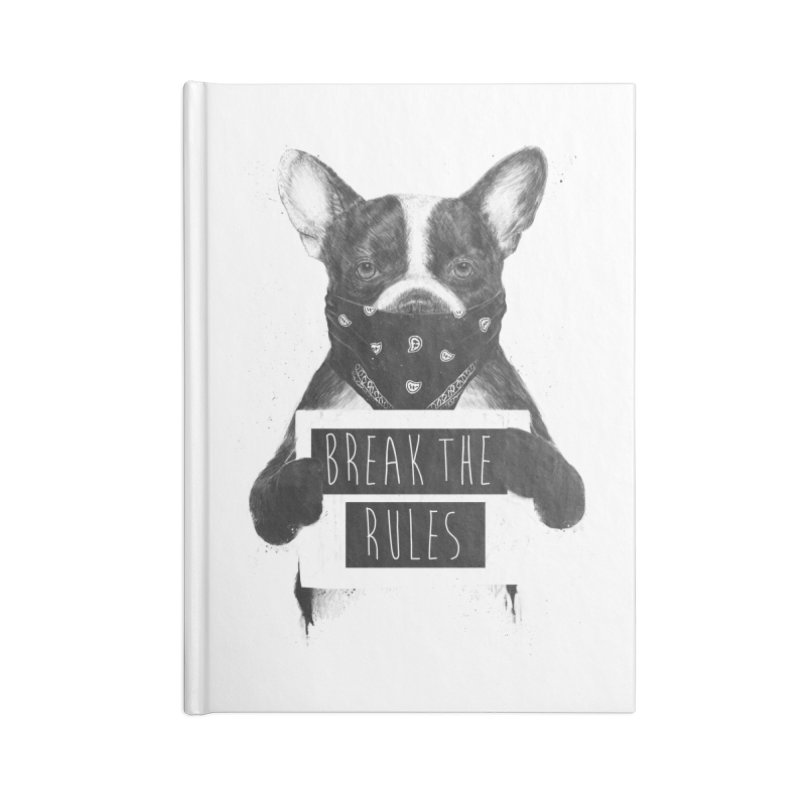 Rebel dog Accessories Blank Journal Notebook by Balazs Solti