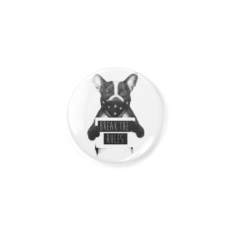 Rebel dog Accessories Button by Balazs Solti