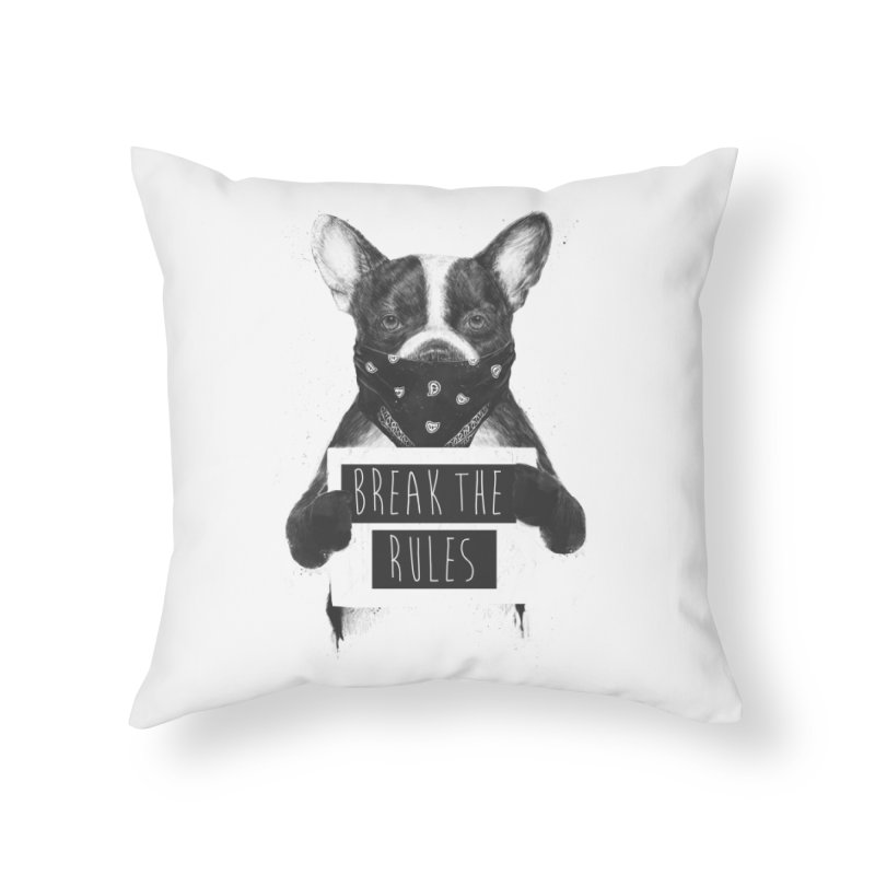 Rebel dog Home Throw Pillow by Balazs Solti